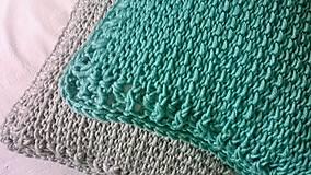 Úžitkový textil - Háčkovaný vankúš MINT - 6997594_