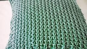 Úžitkový textil - Háčkovaný vankúš MINT - 6997595_
