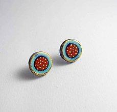 Náušnice - Tana šperky - keramika/zlato - 6997963_