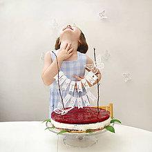 Dekorácie - VLAJEČKOVÁ girlanda na tortu - 6998697_