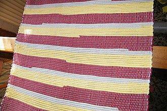 Úžitkový textil - Tkaný koberec bordovo-žlto-béžový - 6997684_