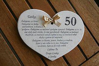 Dekorácie - Srdiečko k narodeninám II. - 7002111_