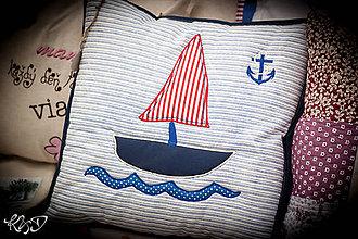 """Úžitkový textil - Vankúšik """"Loďka"""" No.1 - 7003754_"""