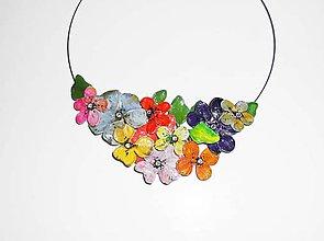 Náhrdelníky - color flowers náhrdelník - 7001284_