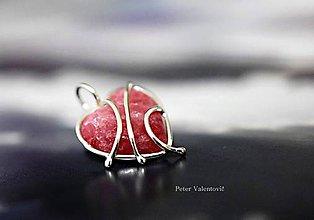 Náhrdelníky - Lesná jahoda - 7000938_