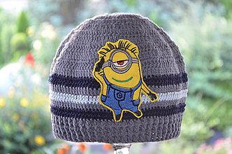 Detské čiapky - Skladom- Háčkovaná čiapka - 7003719_