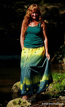 Sukne - Sukňa batikovaná, maľovaná, etno COPACABANA - 7001278_