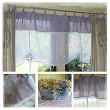 Úžitkový textil - Lněná ...levandulovááá :O)) š.125xd.130cm - 7002943_