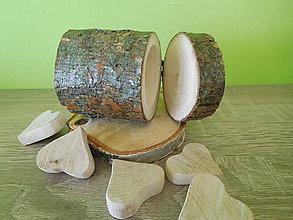 Prstene - vintage krabička na svadobné prstienky - lakovaná - 7001089_