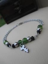 Šperky - Zelený kľúč-náramok pre mužov-chir. oceľ - 7003905_