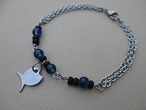 Šperky - Blue fish-náramok pre pánov-chir. oceľ - 7003799_