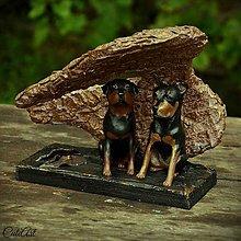 Socha - Pod krídlami anjela - socha psov podľa fotografie - 7004056_