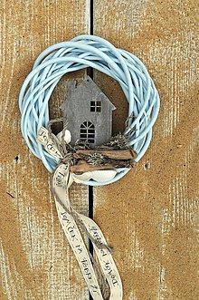 Dekorácie - Veniec ...Domček na pobreží - 7003728_