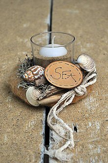 Svietidlá a sviečky - Svietnik....Sea - 7003810_