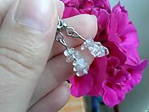 Náušnice - Pure crystal (krištáľ + chir. oceľ) - 7002290_