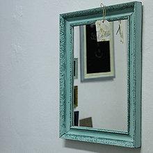 Zrkadlá - Tyrkysové vintage zrkadlo - predané - 7001241_