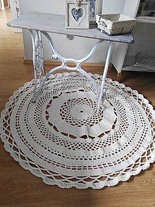 Úžitkový textil - hačkovaný koberec - 7003287_