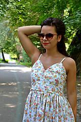 Šaty - Nežné šaty plné drobných kvietkov - 7001029_