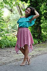 - Gingham asymetrická sukienka  - 7001209_
