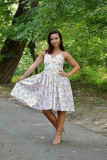 Šaty - Nežné šaty plné drobných kvietkov - 7001027_