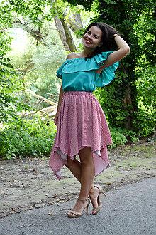 Sukne - Gingham asymetrická sukienka  - 7001209_