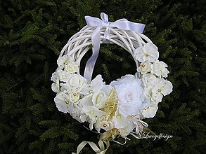Dekorácie - svadobný veniec.
