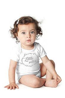 Detské oblečenie - Detské body Little sister - 7003347_