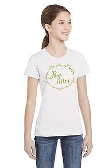 Detské oblečenie - Detské tričko Big sister - 7003370_