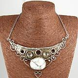 - Cínovaný náhrdelník Aténa s magnezitom - 7006587_