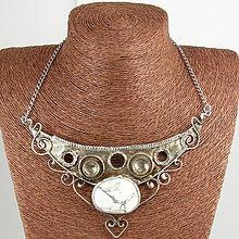 Náhrdelníky - Cínovaný náhrdelník Aténa s magnezitom - 7006587_