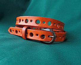 Opasky - Opasek děrovaný oranžový - 7004893_