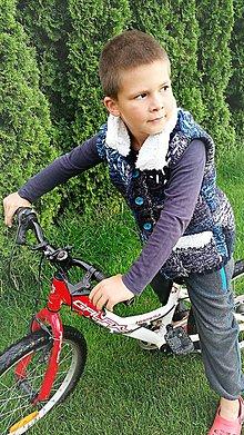 Detské oblečenie - Vesta pletená - blue - 7006229_