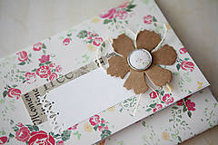 Papiernictvo - Obálka na peniaze - vintage ružičky - 7005106_