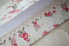 Papiernictvo - Obálka na peniaze - vintage ružičky - 7005107_