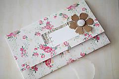 Papiernictvo - Obálka na peniaze - vintage ružičky - 7005108_