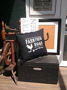 """Úžitkový textil - Vankúšik  """"farm fresh"""" - 7005169_"""