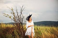 Čiapky - Neobyčajný čierny klobúk Le brouillard - 7006344_