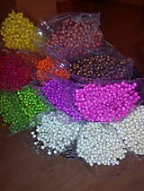 Suroviny - Sušený farbený ľan - 7006424_