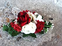 - Spona červeno-biela - 7005414_