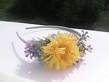 """Ozdoby do vlasov - Kvetinová čelenka do vlasov """"Slnečné kvety"""" - 7004446_"""