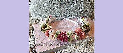 Ozdoby do vlasov - Romantický venček plný ruží - 7006153_