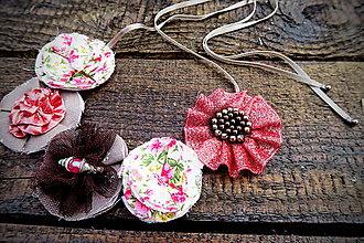 Náhrdelníky - Medenovo červený kvetinový náhrdelník - Carnelian - 7006373_