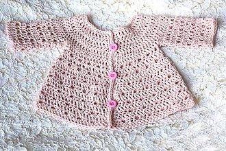 Detské oblečenie - Ružový svetrík pre bábätko EXTRA FINE - 7005197_