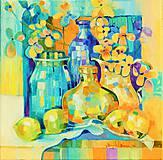 Obrazy - Zátišie s citrónom 2 - 7004267_