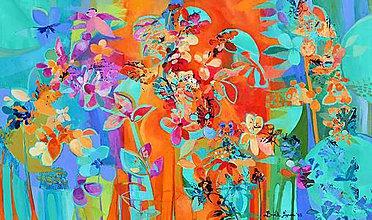 Obrazy - Motýlikové kvety - 7004223_