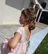 Detské oblečenie - Low Back šaty krátke