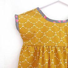 """Detské oblečenie - Low Back šaty krátke """" Zlatá rybka """" - 7004102_"""