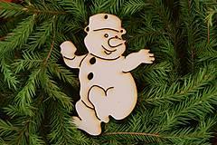 Drevené vianočne ozdoby z preglejky 28