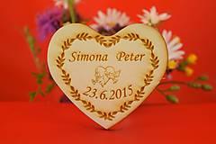 Darčeky pre svadobčanov - Drevené svadobné magnetky ako darček  47 - 7006014_