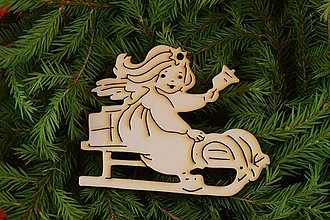 Dekorácie - Drevené vianočne ozdoby z preglejky 15 - 7005952_